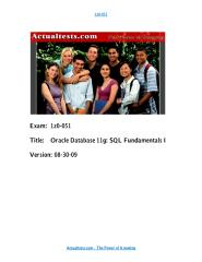 1Z0-051 SQL 11g OCA Dumps.pdf