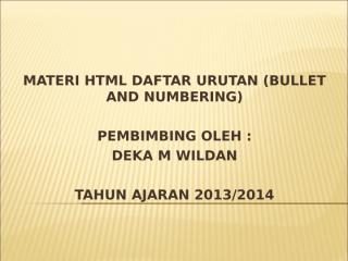 03 - HTML DAFTAR URUTAN.ppt