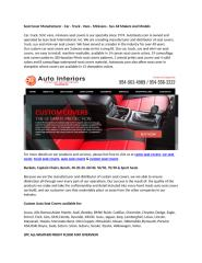 Seat Cover Manufacturer - Car - Truck - Vans - Minivans - Suv All Makers And Models.docx