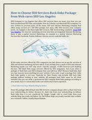 How to Choose SEO Services Back links Package from Web cures SEO Los Angeles.pdf