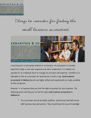 Things to consider for finding the small business accountant.pdf