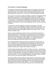 The ôbusinessö of Stock Photography.doc